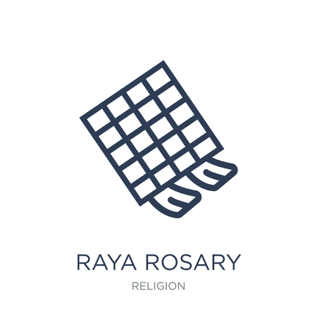 Raya Rosary icon. Trendy flat vector Raya Rosary icon on white background from Religion collection, vector illustration can be use for web and mobile, eps10