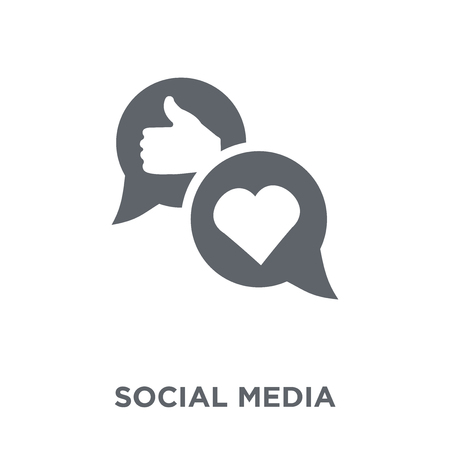 Social media icon. Social media design concept from  collection. Simple element vector illustration on white background.