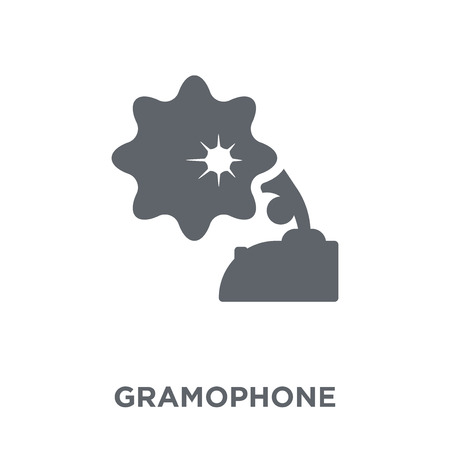 Gramophone icon. Gramophone design concept from  collection. Simple element vector illustration on white background. Ilustrace