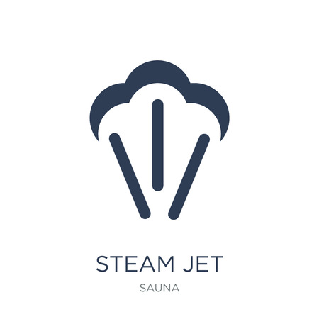 Steam jet icon. Trendy flat vector Steam jet icon on white background from sauna collection, vector illustration can be use for web and mobile, eps10 Фото со стока - 112318514
