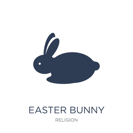 Easter bunny icon. Trendy flat vector Easter bunny icon on white background from Religion collection, vector illustration can be use for web and mobile