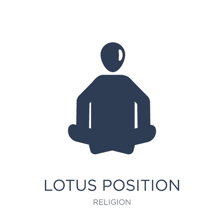 Lotus position icon. Trendy flat vector Lotus position icon on white background from Religion collection, vector illustration can be use for web and mobile, eps10