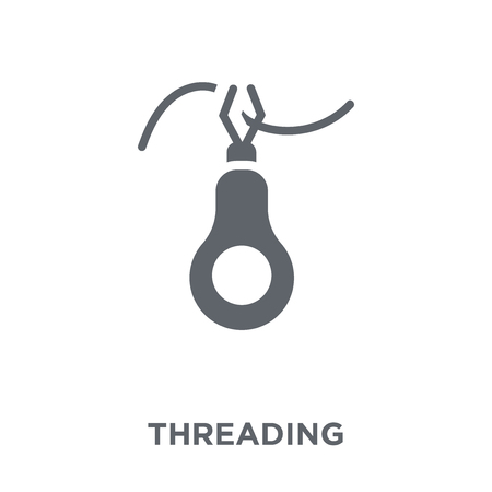 Threading icon. Threading design concept from Sew collection. Simple element vector illustration on white background.