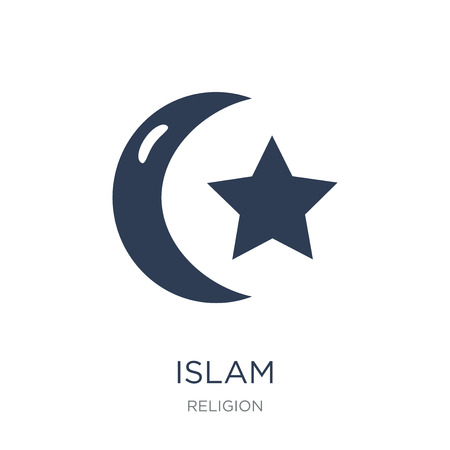 Islam icon. Trendy flat vector Islam icon on white background from Religion collection, vector illustration can be use for web and mobile 일러스트