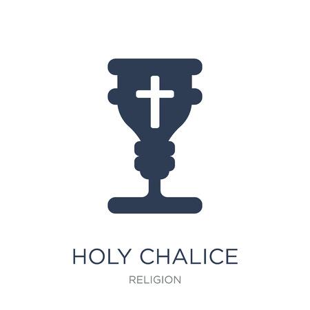 Ikona świętego kielicha. Modny płaski wektor ikona Świętego kielicha na białym tle z kolekcji Religia, ilustracji wektorowych może być używany dla sieci web i mobile