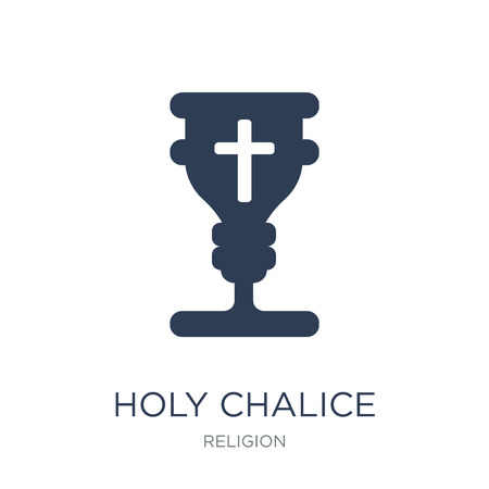 Holy chalice icon. Trendy flat vector Holy chalice icon on white background from Religion collection, vector illustration can be use for web and mobile