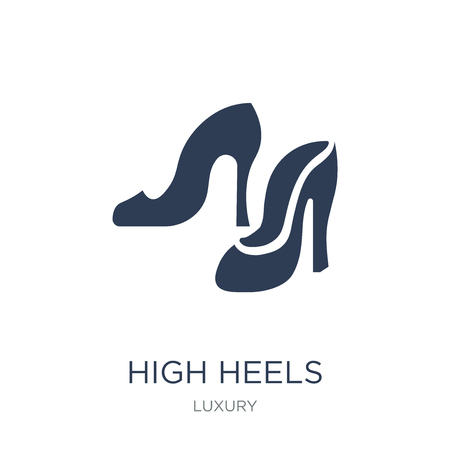 High heels icon. Trendy flat vector High heels icon on white background from Luxury collection, vector illustration can be use for web and mobile