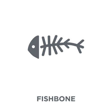 Fishbone icon. Fishbone design concept from  collection. Simple element vector illustration on white background.
