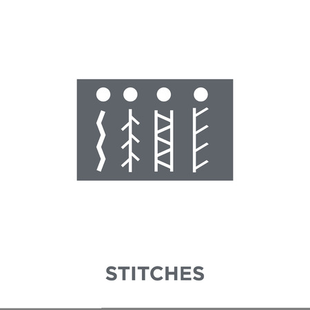 Stitches icon. Stitches design concept from Sew collection. Simple element vector illustration on white background.