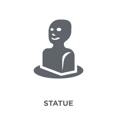 Statue icon. Statue design concept from Museum collection. Simple element vector illustration on white background. Archivio Fotografico - 111839032