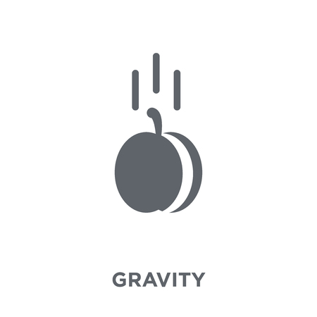 Gravity icon. Gravity design concept from  collection. Simple element vector illustration on white background.  イラスト・ベクター素材
