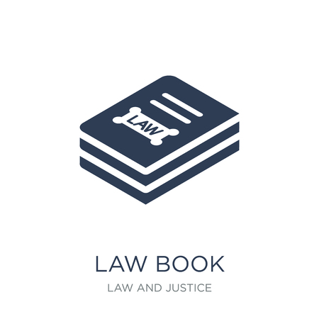 Law book icon. Trendy flat vector Law book icon on white background from law and justice collection, vector illustration can be use for web and mobile