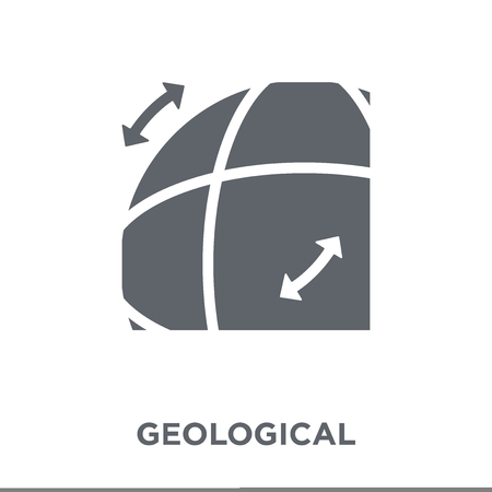Geological icon. Geological design concept from Museum collection. Simple element vector illustration on white background.