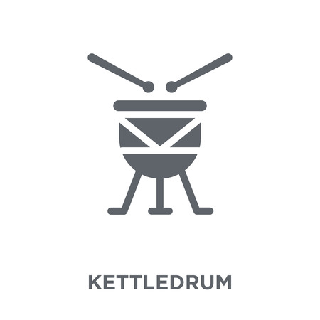 Kettledrum icon. Kettledrum design concept from  collection. Simple element vector illustration on white background.