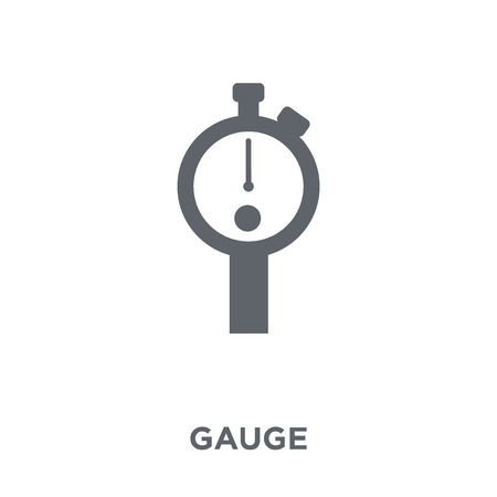 Gauge icon. Gauge design concept from  collection. Simple element vector illustration on white background.