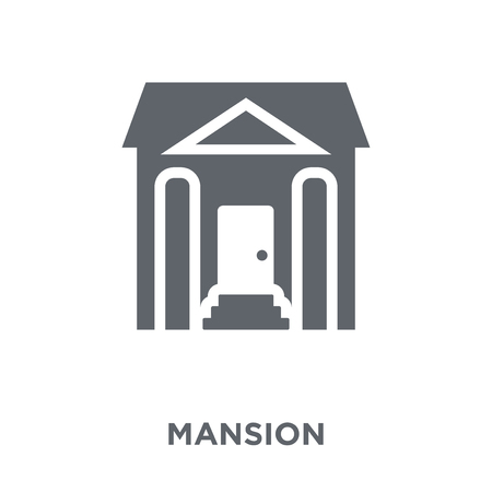 Mansion icon. Mansion design concept from  collection. Simple element vector illustration on white background.