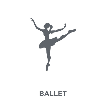 Ballet icon. Ballet design concept from Museum collection. Simple element vector illustration on white background. Çizim