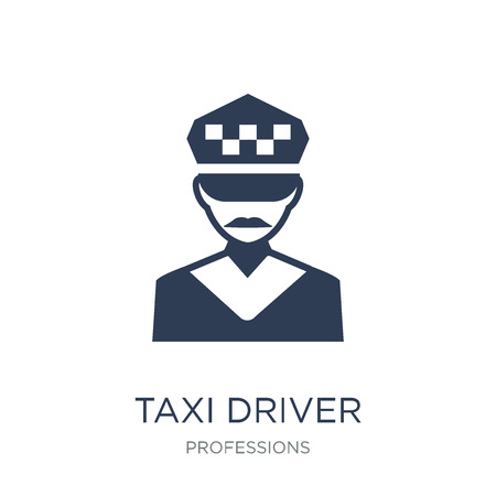 Taxi driver icon. Trendy flat vector Taxi driver icon on white background from Professions collection, vector illustration can be use for web and mobile, eps10 Иллюстрация