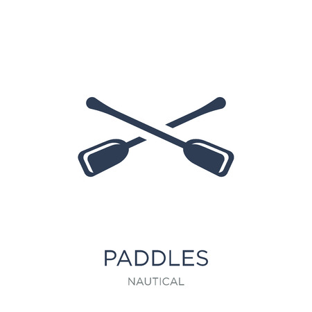 Paddles icon. Trendy flat vector Paddles icon on white background from Nautical collection, vector illustration can be use for web and mobile, eps10