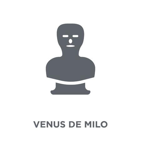 Venus de milo icon. Venus de milo design concept from  collection. Simple element vector illustration on white background.