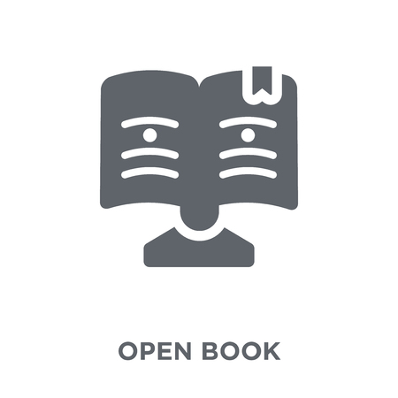 Open Book icon. Open Book design concept from  collection. Simple element vector illustration on white background.