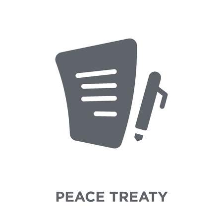 Peace treaty icon. Peace treaty design concept from Political collection. Simple element vector illustration on white background.