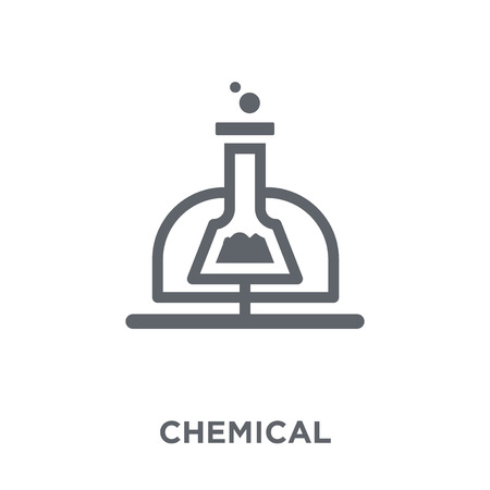 Chemical icon. Chemical design concept from  collection. Simple element vector illustration on white background. Archivio Fotografico - 111839060