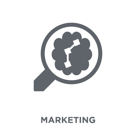 Marketing icon. Marketing design concept from  collection. Simple element vector illustration on white background. Stock Vector - 111839062