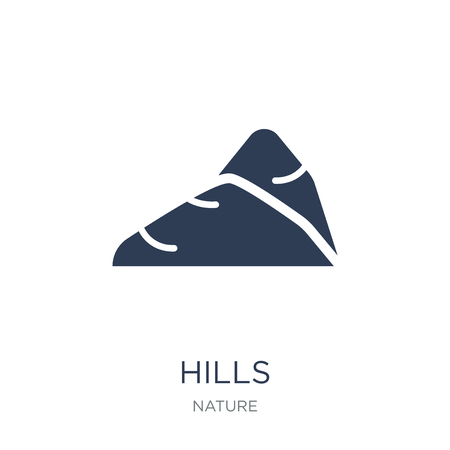 Hills icon. Trendy flat vector Hills icon on white background from nature collection, vector illustration can be use for web and mobile