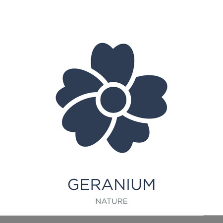 Geranium icon. Trendy flat vector Geranium icon on white background from nature collection, vector illustration can be use for web and mobile, eps10