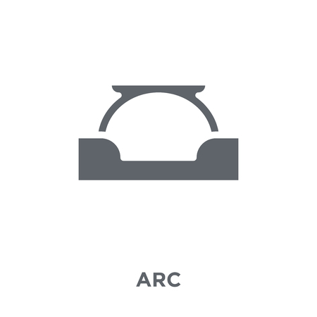 Arc icon. Arc design concept from  collection. Simple element vector illustration on white background. Ilustracja