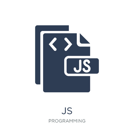 Js icon. Trendy flat vector Js icon on white background from Programming collection, vector illustration can be use for web and mobile, eps10 向量圖像