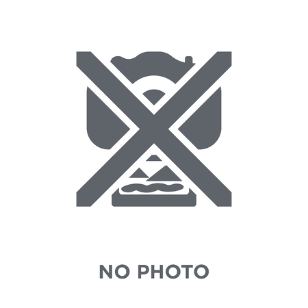 No photo sign icon. No photo sign design concept from Museum collection. Simple element vector illustration on white background.