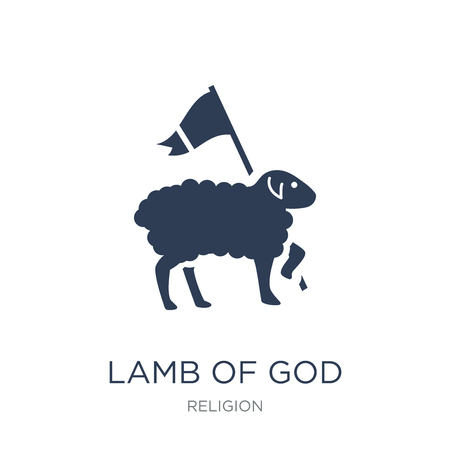 Lamb of God icon. Trendy flat vector Lamb of God icon on white background from Religion collection, vector illustration can be use for web and mobile, eps10 Ilustracja
