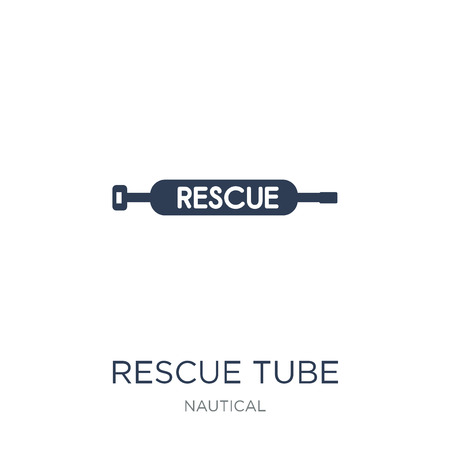 Rescue Tube icon. Trendy flat vector Rescue Tube icon on white background from Nautical collection, vector illustration can be use for web and mobile, eps10 일러스트
