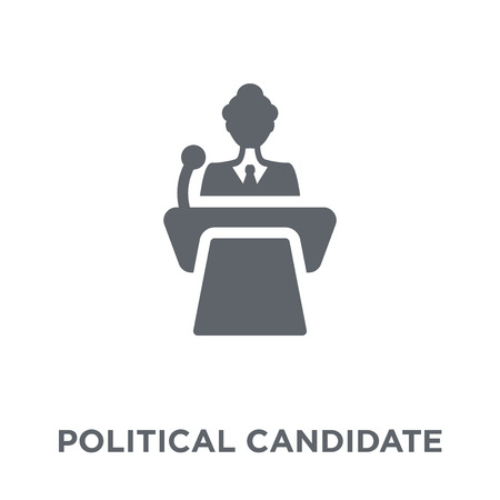 Political candidate speech icon. Political candidate speech design concept from Political collection. Simple element vector illustration on white background.