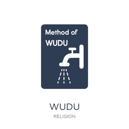 Icône de Wudu. Icône Wudu vecteur plat sur fond blanc de la collection Religion, illustration vectorielle peut être utilisé pour le web et mobile, eps10 Vecteurs
