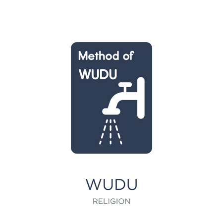 Wudu icon. Trendy flat vector Wudu icon on white background from Religion collection, vector illustration can be use for web and mobile, eps10