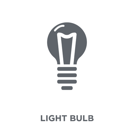 Light bulb icon. Light bulb design concept from collection. Simple element vector illustration on white background.