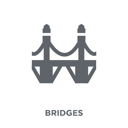 Bridges icon. Bridges design concept from Real estate collection. Simple element vector illustration on white background.