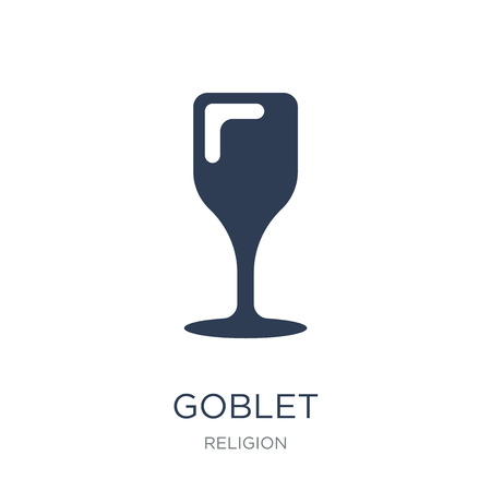 Goblet icon. Trendy flat vector Goblet icon on white background from Religion collection, vector illustration can be use for web and mobile, eps10 Standard-Bild - 112320574