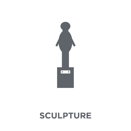Sculpture icon. Sculpture design concept from  collection. Simple element vector illustration on white background.