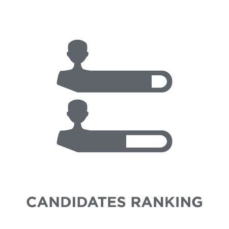 Candidates ranking graphic icon. Candidates ranking graphic design concept from Political collection. Simple element vector illustration on white background.