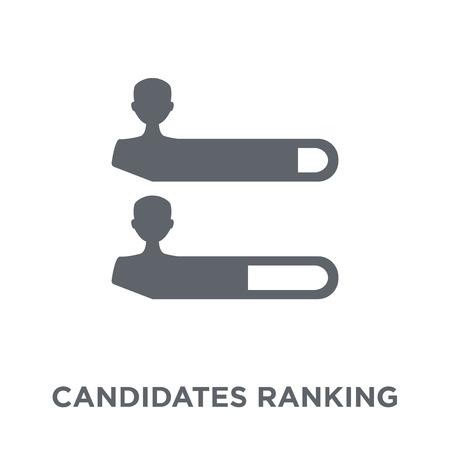 Icône graphique de classement des candidats. Candidats classant le concept de design graphique de la collection politique. Illustration vectorielle élément simple sur fond blanc.