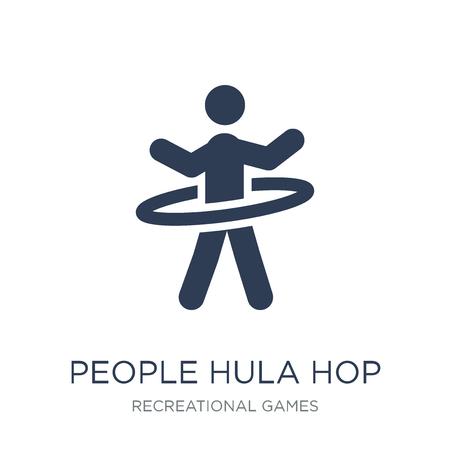 Icône d'icône de personnes Hula hop. Icône de vecteur plat People Hula hop sur fond blanc de la collection de jeux récréatifs, illustration vectorielle peut être utilisé pour le web et mobile, eps10