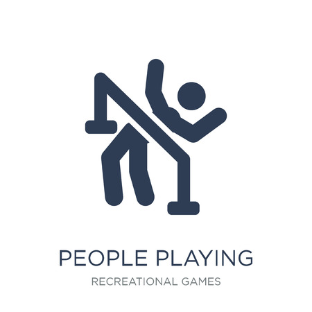 People playing Limbo icon icon. Trendy flat vector People playing Limbo icon on white background from Recreational games collection, vector illustration can be use for web and mobile, eps10