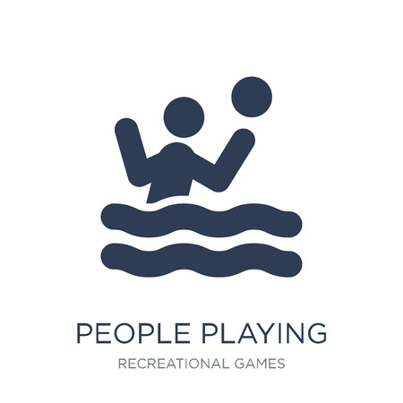 People playing Waterpolo icon icon. Trendy flat vector People playing Waterpolo icon on white background from Recreational games collection, vector illustration can be use for web and mobile, eps10