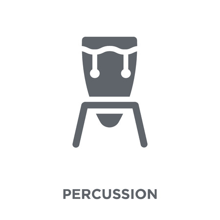 Percussion icon. Percussion design concept from Music collection. Simple element vector illustration on white background.