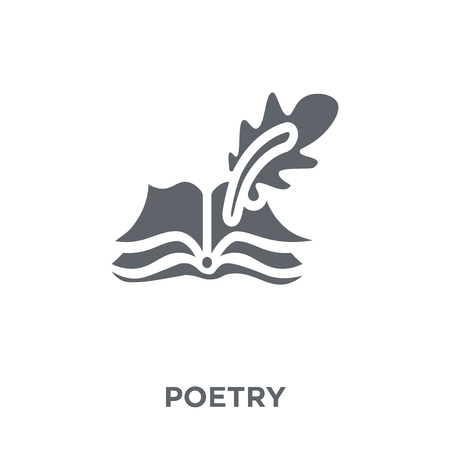 Poetry icon. Poetry design concept from Museum collection. Simple element vector illustration on white background. Banque d'images - 112320595