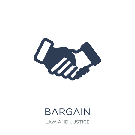 Bargain icon. Trendy flat vector Bargain icon on white background from law and justice collection, vector illustration can be use for web and mobile, eps10 Vecteurs